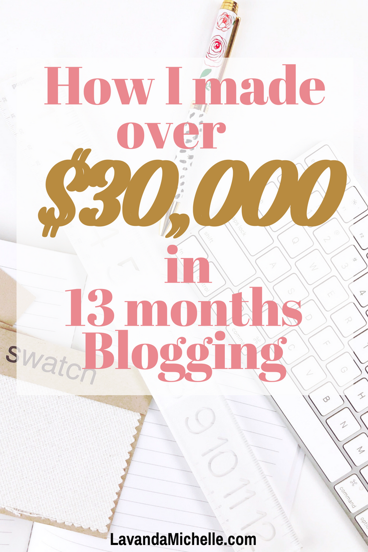 How I made over $30,000 in 13 months Blogging