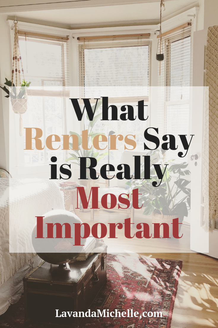 What Renters Say is Really Most Important