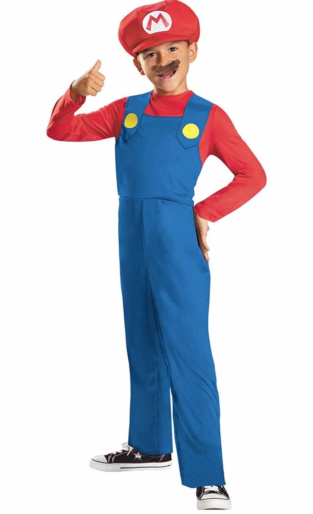 Nintendo Super Mario Brothers Mario Classic Boys Costume