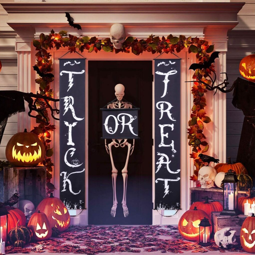 Halloween Home Front Door Decorations by Boao