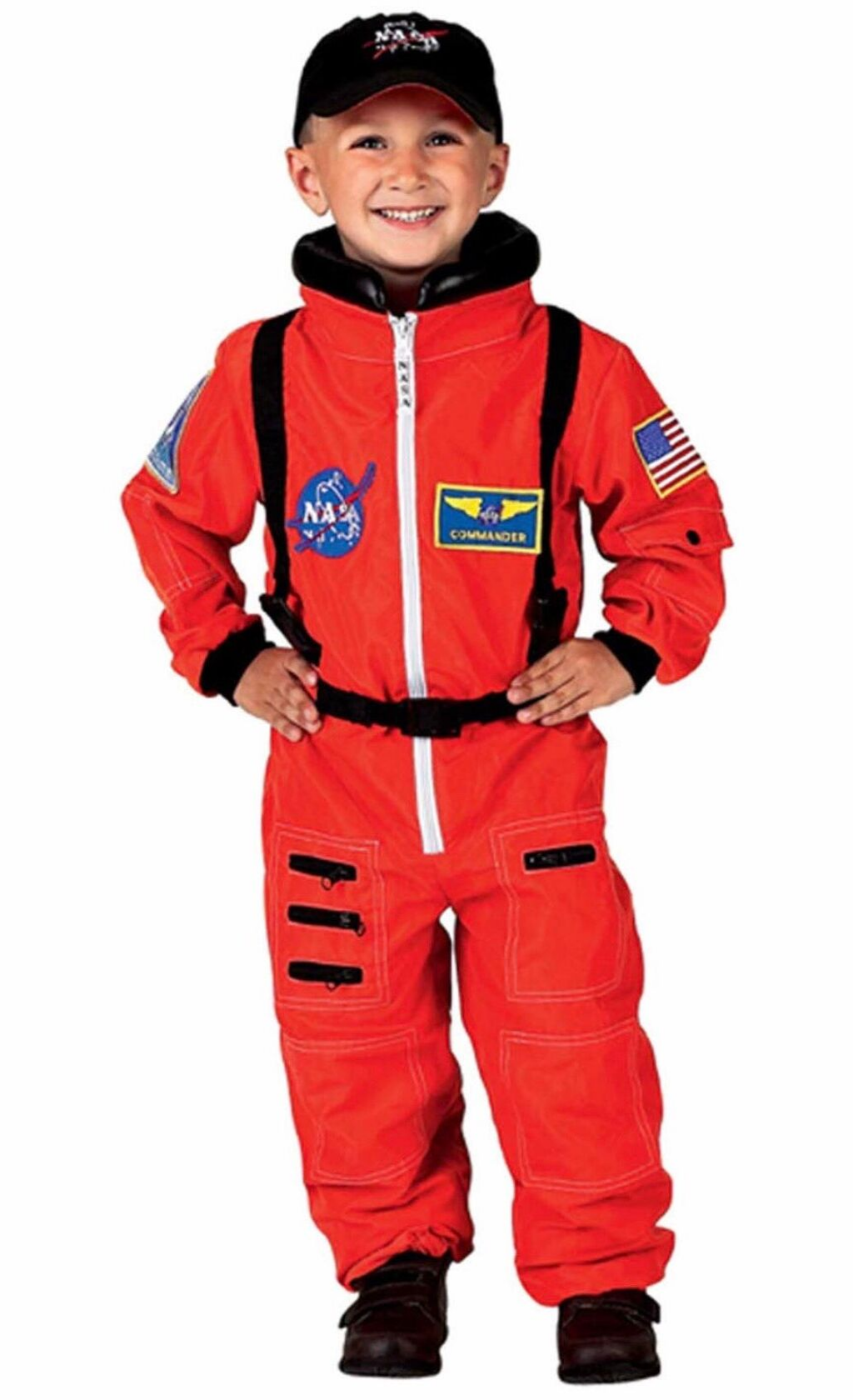 Jr. Astronaut Suit with Embroidered Cap and NASA patches