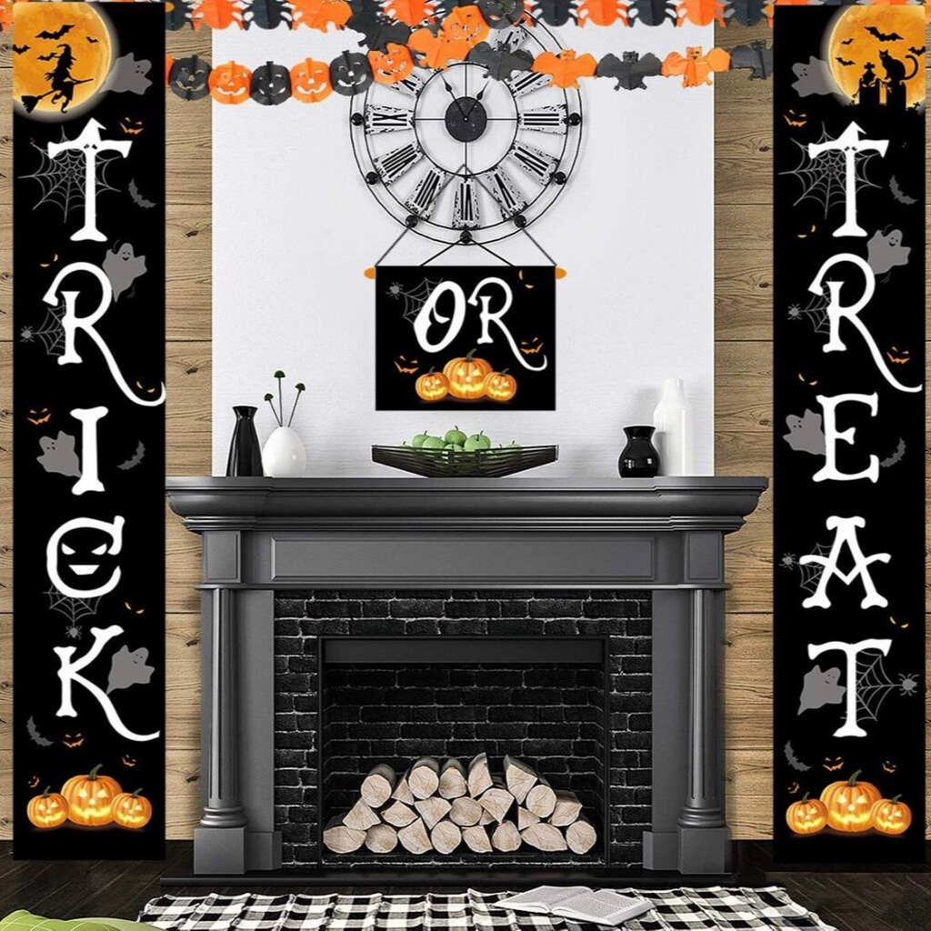 Porch Front Door Halloween Decorations for Ready to Welcome Kids by Jozon